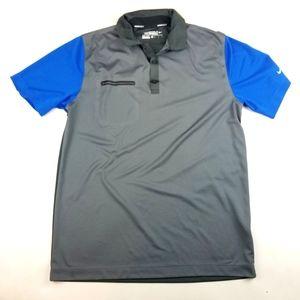 Mens Nike Golf Pro Gray Blue Polo Shirt Size M
